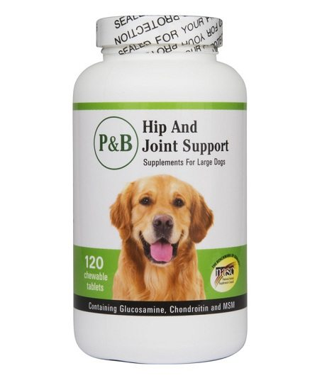 An example of a glucosamine supplementation product for dogs.