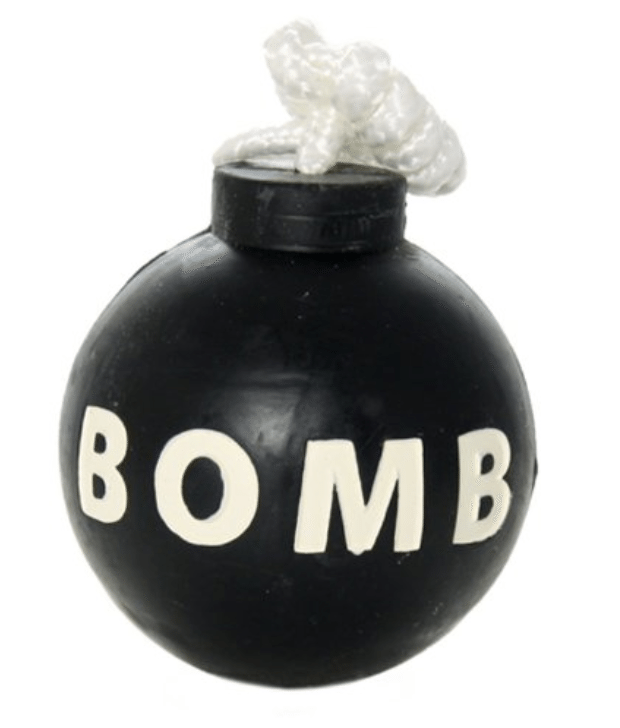 The Tuffy Rubber Bomb Toy is a fantastic choice for heavy chewers.