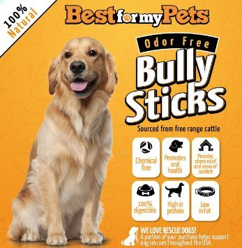 Best for my Pets offers nothing but the best quality bully sticks for your dog.